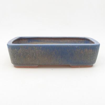 Ceramiczna miska bonsai 25 x 19,5 x 6,5 cm, kolor niebieski - 1