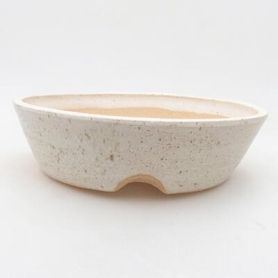 Ceramiczna miska bonsai 20 x 20 x 5,5 cm, kolor beżowy - 1