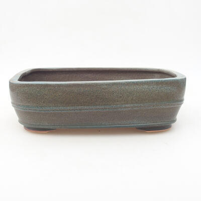 Ceramiczna miska bonsai 24 x 19 x 7 cm, kolor szary - 1