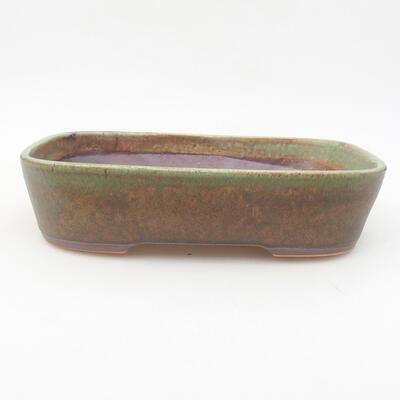 Ceramiczna miska bonsai 23 x 17,5 x 5 cm, kolor zielony - 1