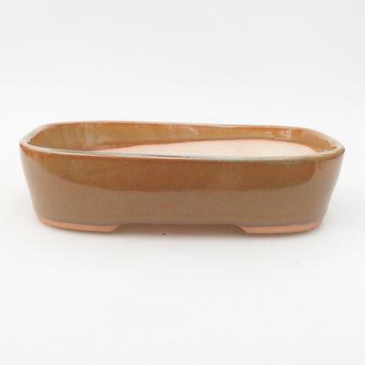 Ceramiczna miska bonsai 23 x 17,5 x 5 cm, kolor brązowy - 1