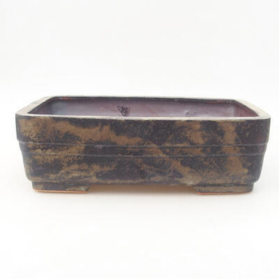 Ceramiczna miska bonsai 26 x 20 x 8 cm, kolor szary - 1