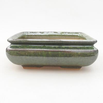 Ceramiczna miska bonsai 15 x 15 x 5,5 cm, kolor zielony - 1