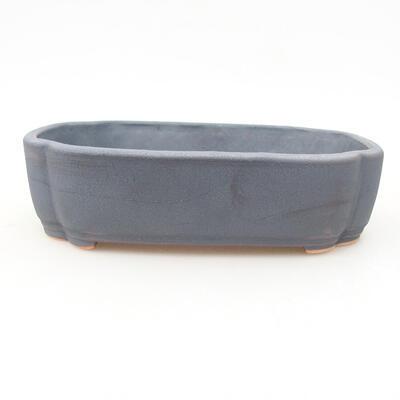 Ceramiczna miska bonsai 15 x 11 x 4 cm, kolor metalowy - 1