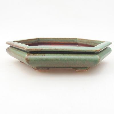 Ceramiczna miska bonsai 18 x 16 x 3,5 cm, kolor zielony - 1