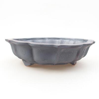 Ceramiczna miska bonsai 17 x 17 x 4,5 cm, kolor metalowy - 1