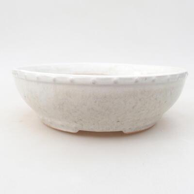 Ceramiczna miska bonsai 17 x 17 x 4,5 cm, kolor biały - 1