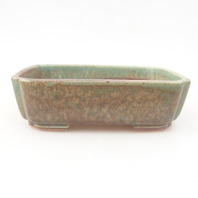 Ceramiczna miska bonsai 15 x 11,5 x 4 cm, kolor zielony - 1