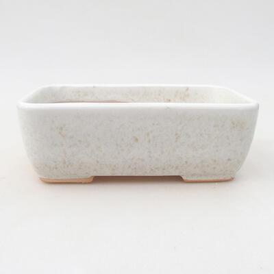 Ceramiczna miska bonsai 15,5 x 10,5 x 5 cm, kolor beżowy - 1