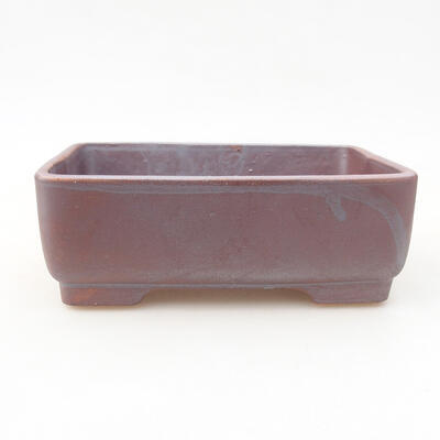 Ceramiczna miska bonsai 14,5 x 11,5 x 4,5 cm, kolor szary - 1