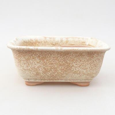 Ceramiczna miska bonsai 13 x 10 x 5 cm, kolor beżowy - 1