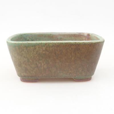 Ceramiczna miska bonsai 13 x 10 x 5,5 cm, kolor zielony - 1
