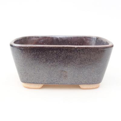 Ceramiczna miska bonsai 13 x 10 x 5,5 cm, kolor brązowy - 1