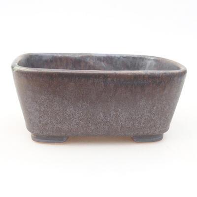Ceramiczna miska bonsai 13 x 10 x 5,5 cm, kolor metalowy - 1
