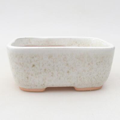 Ceramiczna miska bonsai 13 x 10 x 5,5 cm, kolor biały - 1