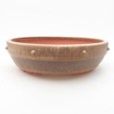 Ceramiczna miska bonsai 19 x 19 x 5,5 cm, kolor brązowy - 1