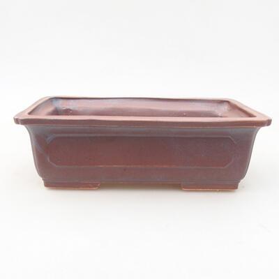 Ceramiczna miska bonsai 16,5 x 11 x 5 cm, kolor metalowy - 1