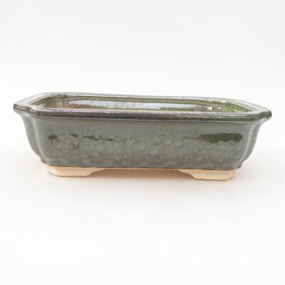 Ceramiczna miska bonsai 17 x 13 x 4,5 cm, kolor zielony - 1