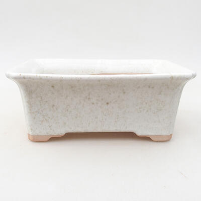 Ceramiczna miska bonsai 17,5 x 14 x 7 cm, kolor biały - 1