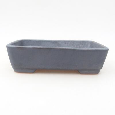 Ceramiczna miska bonsai 17 x 13 x 4,5 cm, kolor metalowy - 1