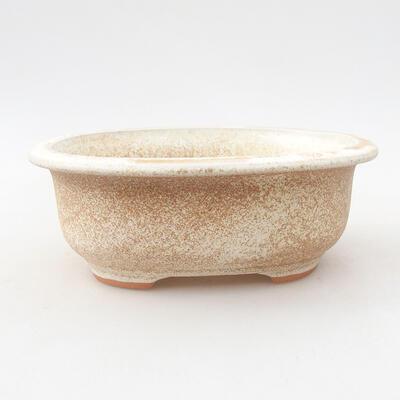 Ceramiczna miska bonsai 14 x 11 x 5 cm, kolor beżowy - 1