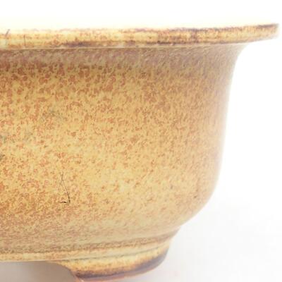 Ceramiczna miska bonsai 14 x 11 x 5 cm, kolor żółty - 1
