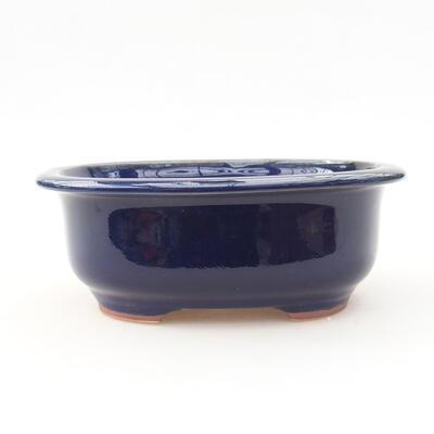 Ceramiczna miska bonsai 14 x 11 x 5 cm, kolor niebieski - 1