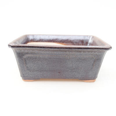 Ceramiczna miska bonsai 13 x 10 x 5 cm, kolor brązowy - 1