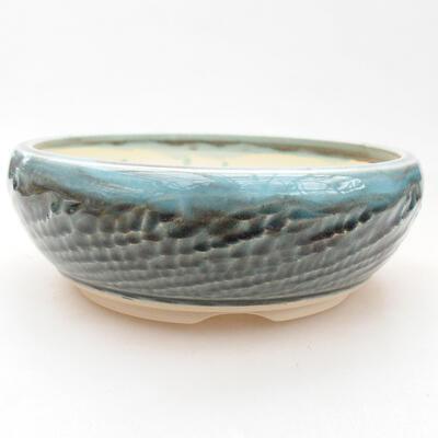 Ceramiczna miska bonsai 21 x 21 x 6,5 cm, kolor beżowy - 1