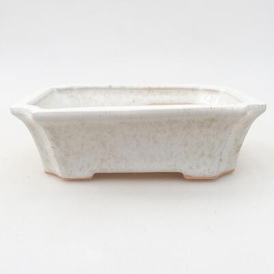 Ceramiczna miska bonsai 12,5 x 10 x 4 cm, kolor biały - 1