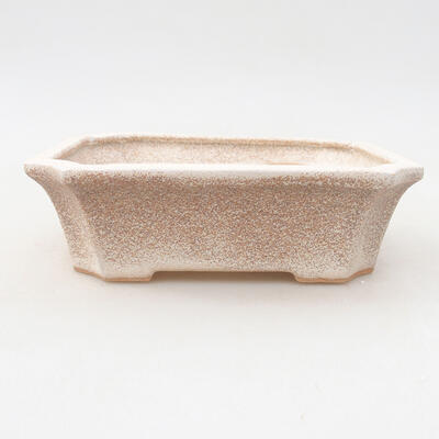 Ceramiczna miska bonsai 12,5 x 10 x 4 cm, kolor beżowy - 1