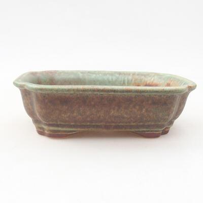 Ceramiczna miska bonsai 15 x 12 x 4 cm, kolor zielony - 1