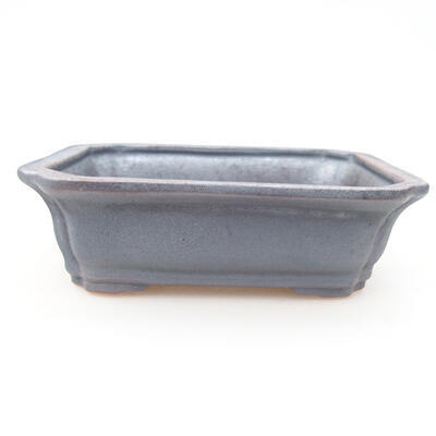 Ceramiczna miska bonsai 12 x 9,5 x 4 cm, kolor metalowy - 1