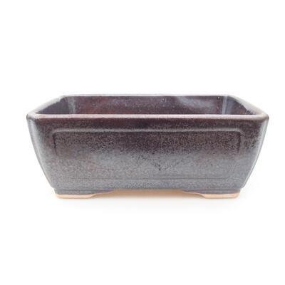 Ceramiczna miska bonsai 15 x 11,5 x 5,5 cm, kolor brązowy - 1