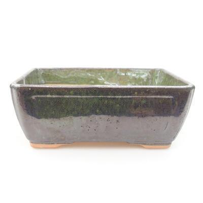 Ceramiczna miska bonsai 15 x 11,5 x 5,5 cm, kolor zielony - 1