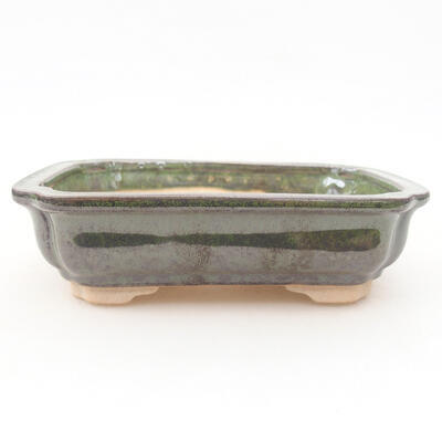 Ceramiczna miska bonsai 13 x 9,5 x 3,5 cm, kolor zielony - 1