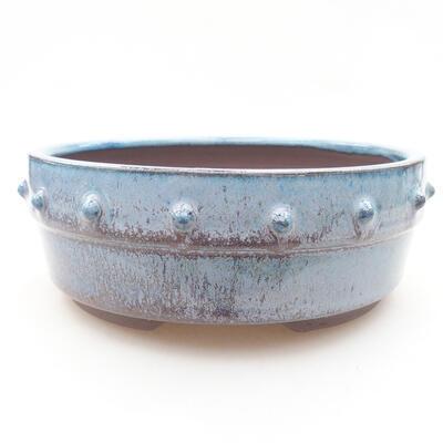 Ceramiczna miska bonsai 15 x 15 x 5,5 cm, kolor niebieski - 1