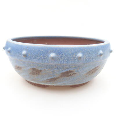 Ceramiczna miska bonsai 17 x 17 x 7 cm, kolor niebieski - 1