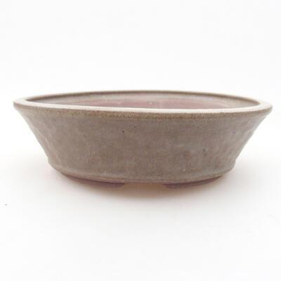 Ceramiczna miska bonsai 18 x 18 x 5 cm, kolor brązowo-zielony - 1
