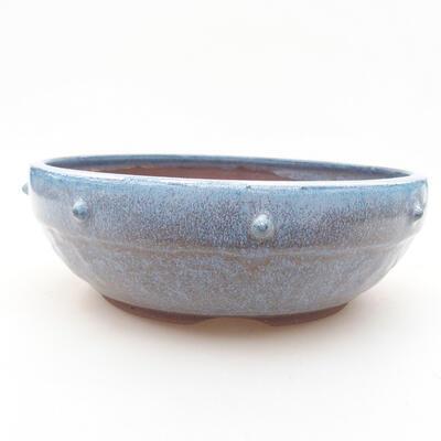 Ceramiczna miska bonsai 18,5 x 18,5 x 6 cm, kolor niebieski - 1