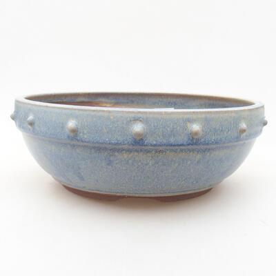 Ceramiczna miska bonsai 21 x 21 x 7 cm, kolor niebieski - 1