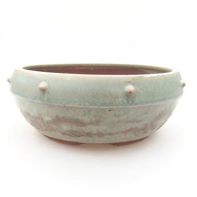 Ceramiczna miska bonsai 17 x 17 x 7 cm, kolor zielony - 1