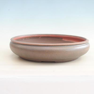 Ceramiczna miska bonsai 37 x 37 x 9 cm, kolor brązowo-zielony - 1