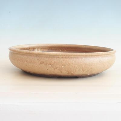 Ceramiczna miska bonsai 37,5 x 37,5 x 9 cm, kolor beżowy - 1