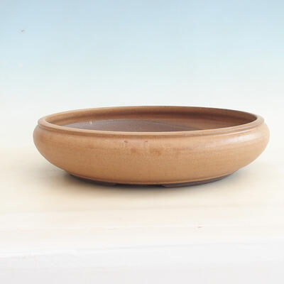 Ceramiczna miska bonsai 34 x 34 x 8,5 cm, kolor brązowy - 1