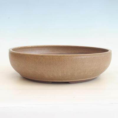 Ceramiczna miska bonsai 37 x 37 x 10 cm, kolor brązowy - 1