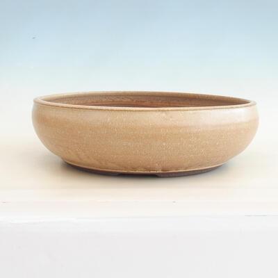 Ceramiczna miska bonsai 39 x 39 x 11 cm, kolor beżowy - 1