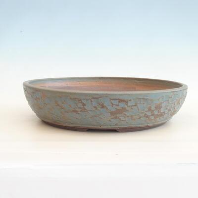 Ceramiczna miska bonsai 38 x 38 x 8,5 cm, kolor zielono-niebieski - 1