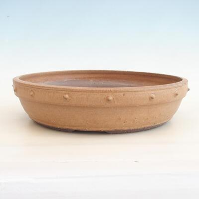 Ceramiczna miska bonsai 33,5 x 33,5 x 8 cm, kolor beżowy - 1