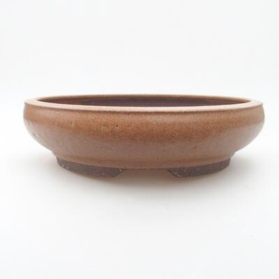 Ceramiczna miska bonsai 24 x 24 x 6 cm, kolor brązowy - 1